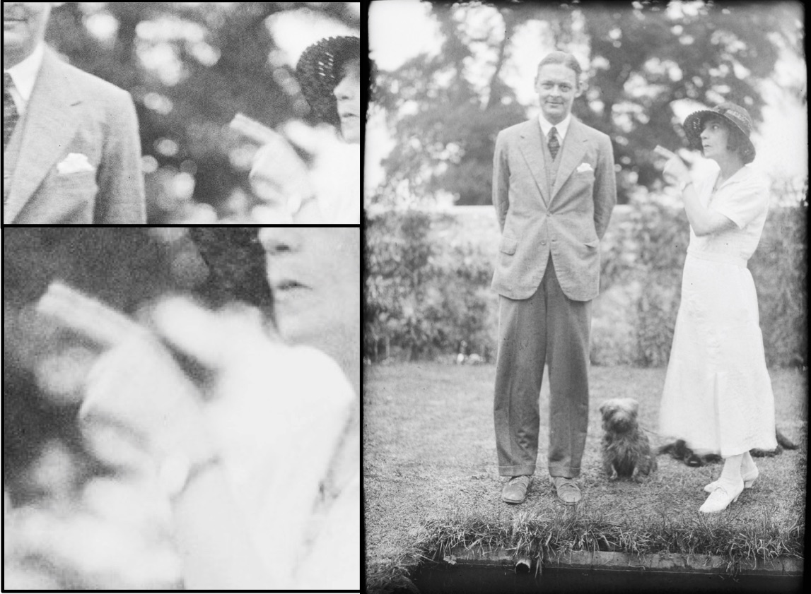 T. S. Eliot and Vivienne Eliot, from Leonard and Virginia Woolf's Monk's House albums, Houghton Library, Harvard University.