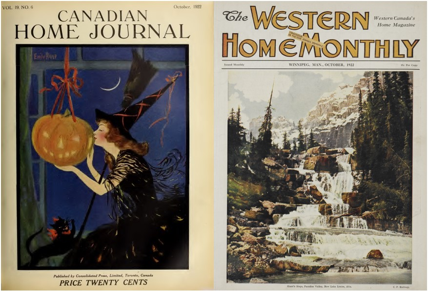 Covers, Canadian Home Journal and Western Home Monthly, 1922