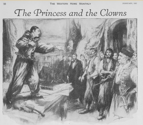 """The Princess and the Clowns,"" Western Home Monthly, February 1927, 10."