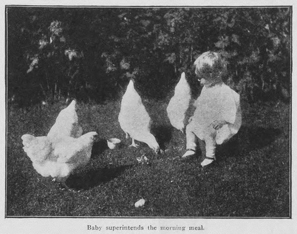 """Baby Superintends the Morning Meal,"" Western Home Monthly, March 1919, 28."