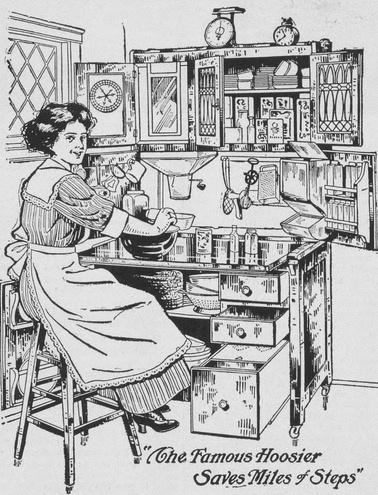 Hoosier Cabinet Advertisement, Western Home Monthly, May 1914, 56.