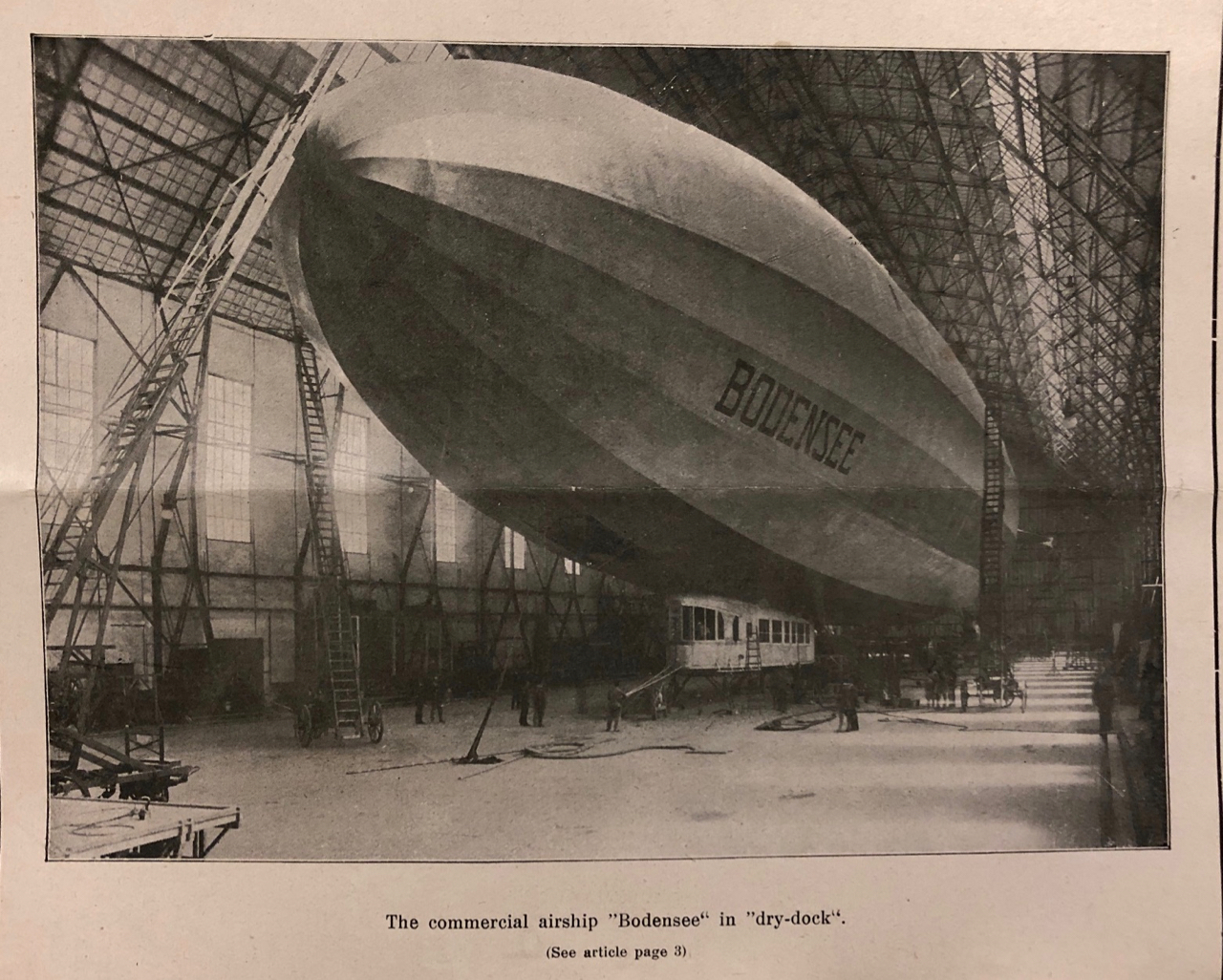 """""""The commercial airship 'Bodensee',"""" Transatlantic Trade, May-June 1920, II."""
