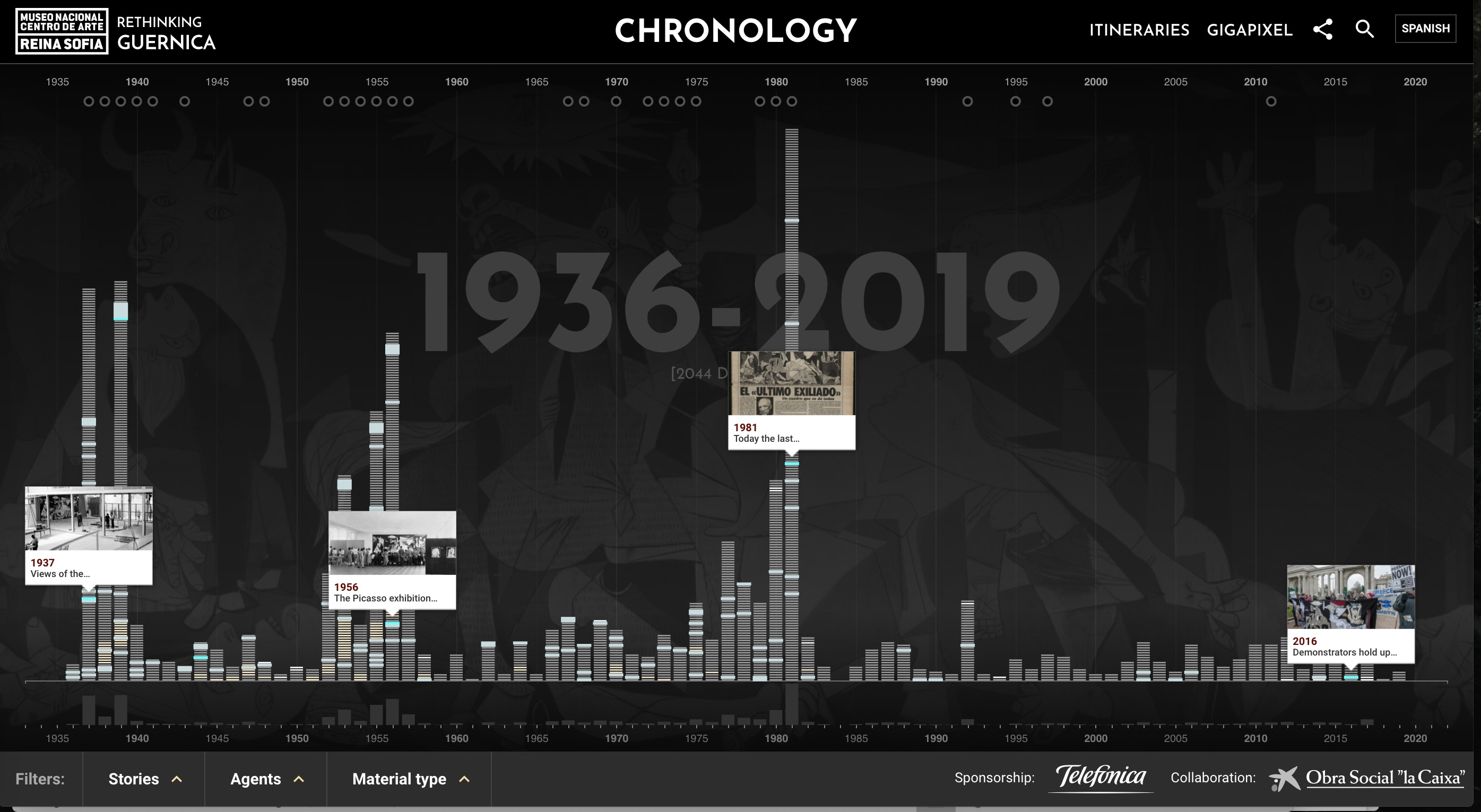 "Screenshot of ""Chronology"" from Repensar Guernica."