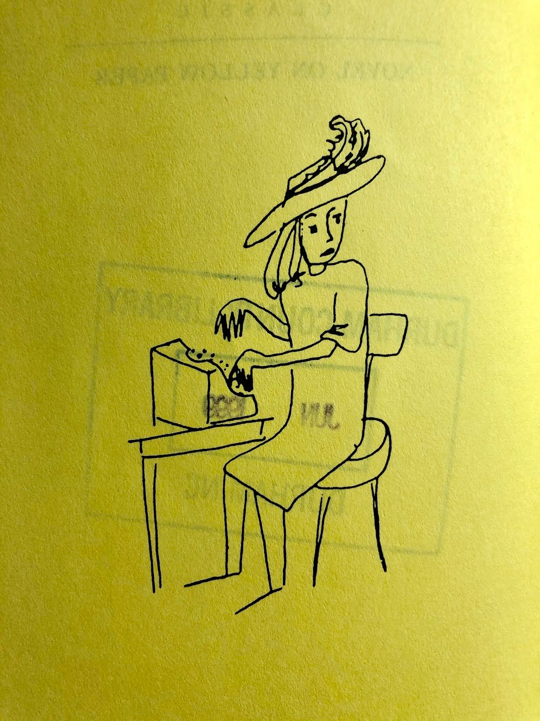 Illustration from Stevie Smith, Novel on Yellow Paper, or, Work It Out for Yourself