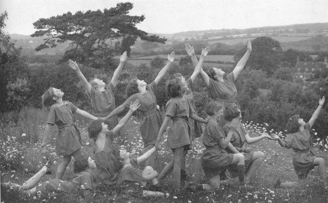 """Children Enacting a Margaret Morris Tableau,"" in Grace Kimmins, Heritage Craft Schools and Hospitals, Chailey, 1903–1948"