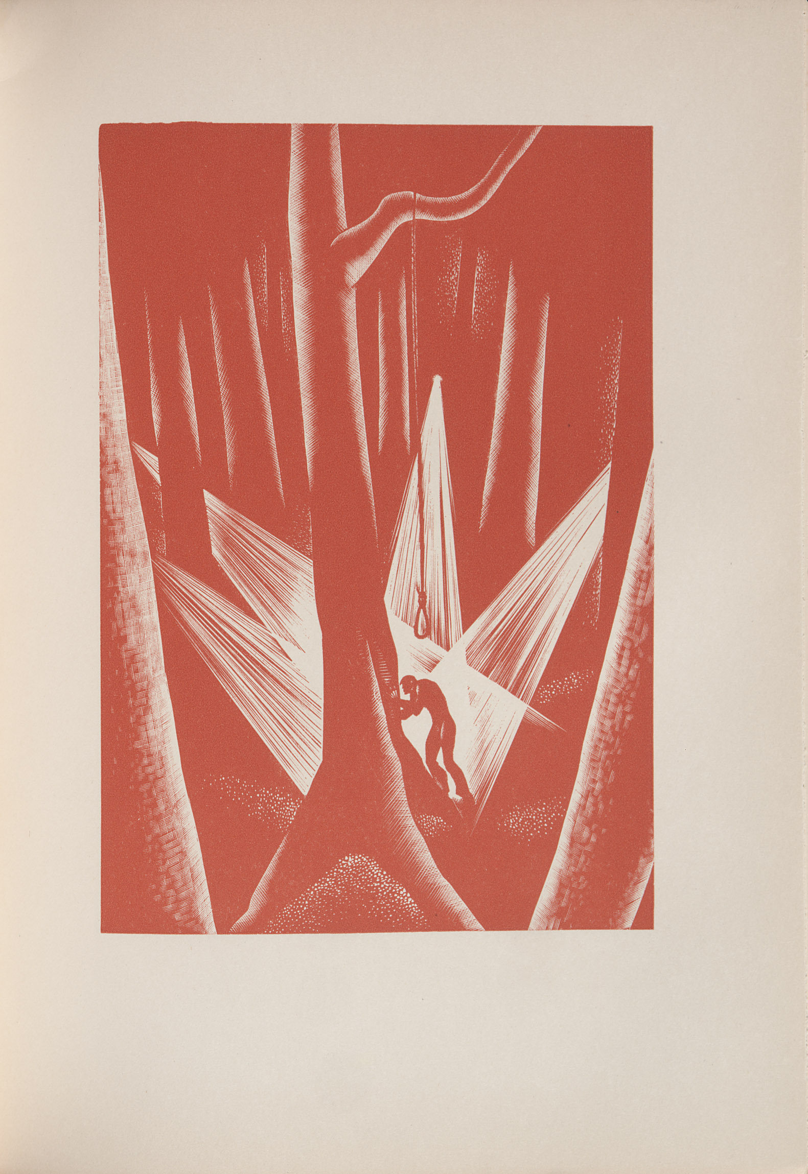 Lynd Ward, wood engraving from Wild Pilgrimage (1932) depicting part of the dream sequence.