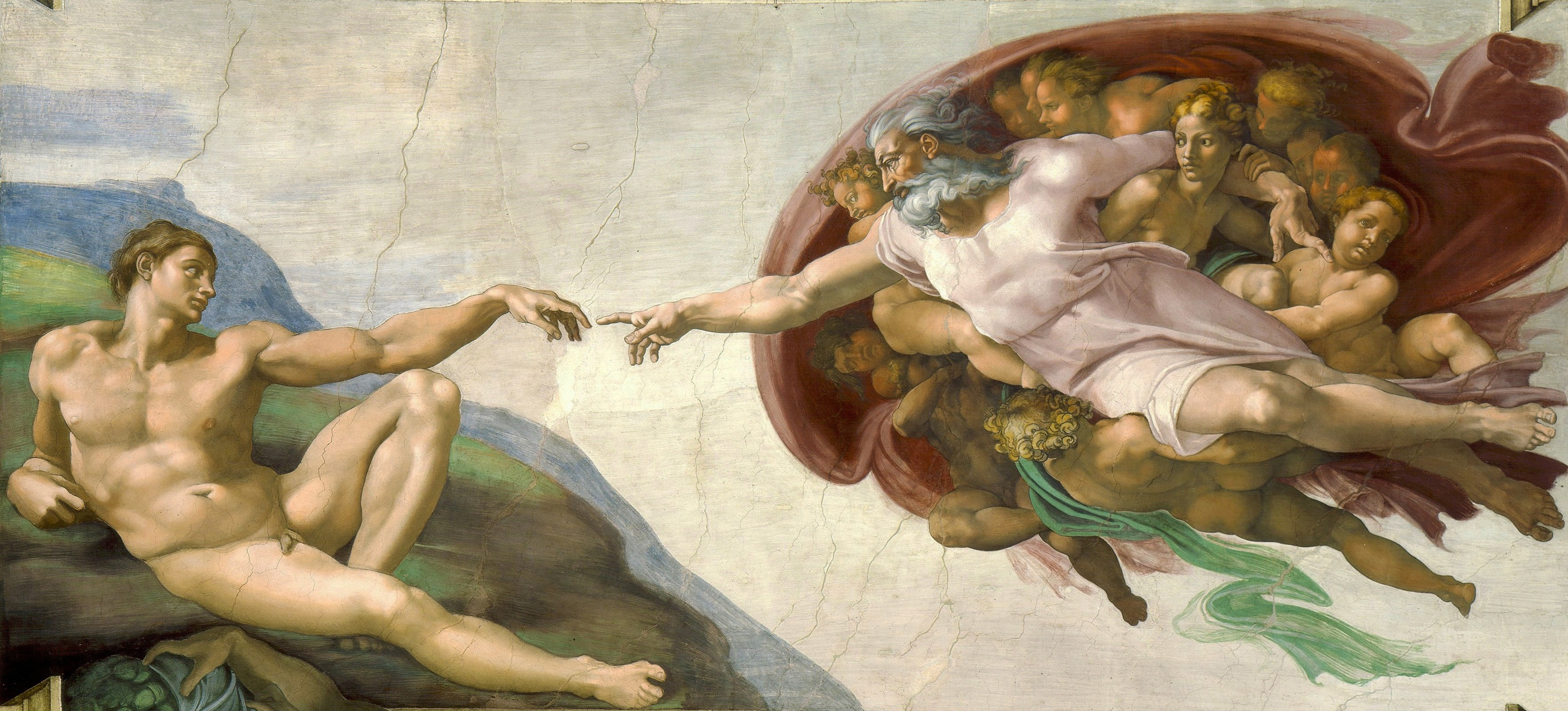 Michelangelo, The Creation of Adam, c. 1512.