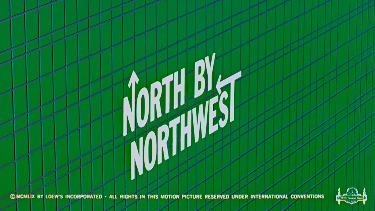 Saul Bass, title design for Hitchcock's North by Northwest.