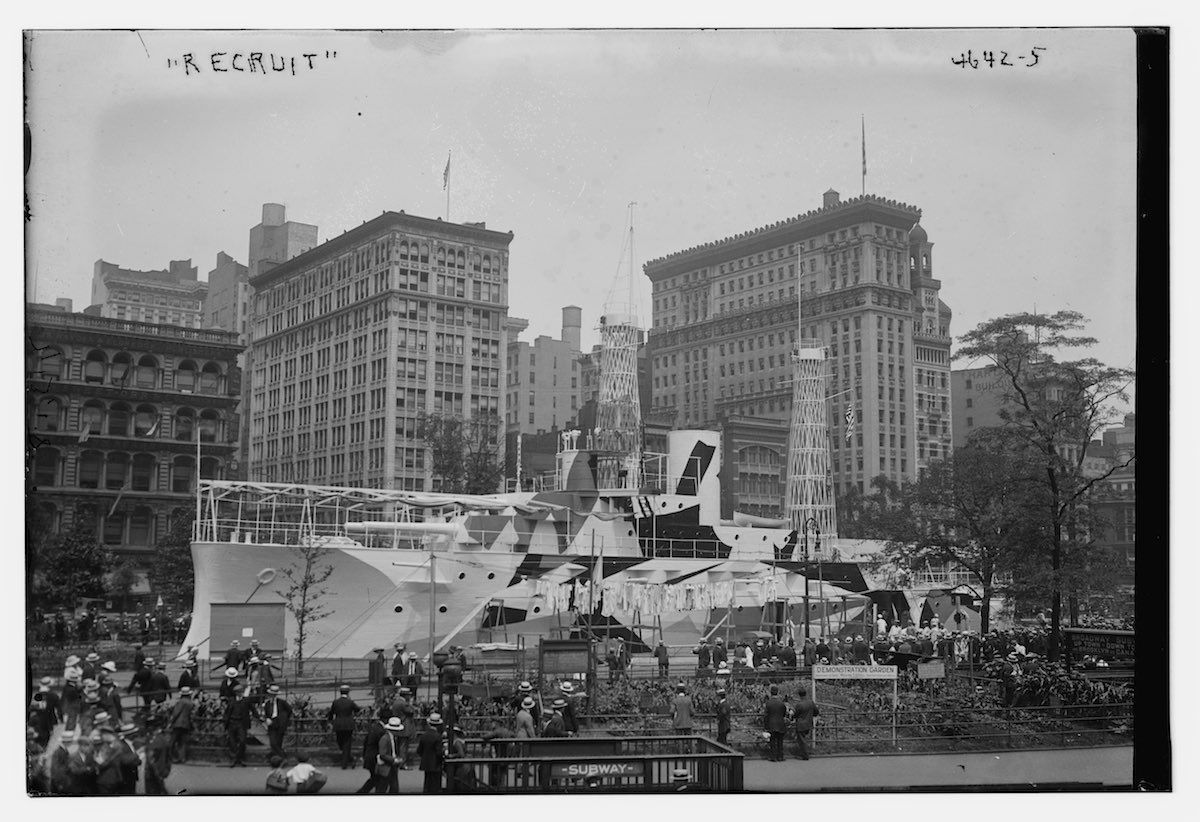 The USS Recruit in Union Square, New York City, 1918.