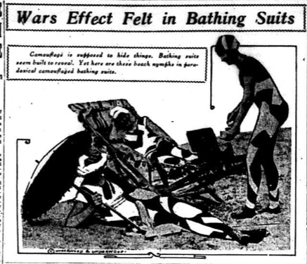 """Wars [sic] Effect Felt in Bathing Suits,"" Winnipeg Evening Tribune, August 16, 1919."