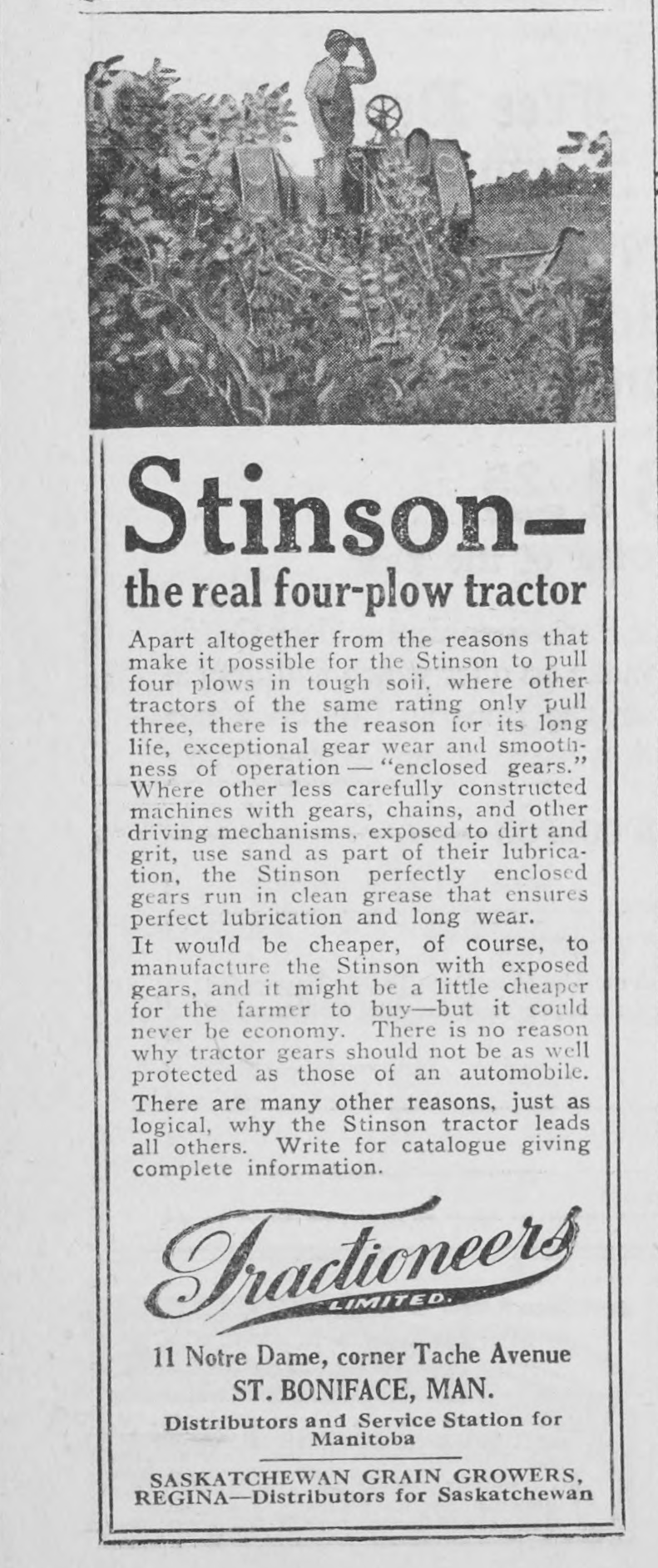 Tractioneers Ltd Advertisement, Western Home Monthly, January 1920, 30.