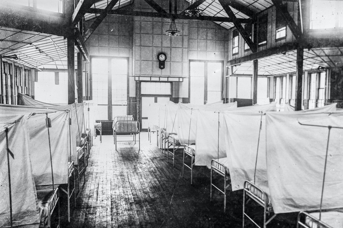 Interior of Red Cross House.