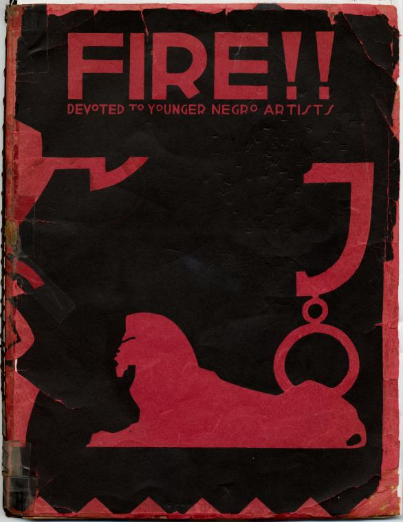 FIRE!! A Quarterly Devoted to Younger Negro Artists (1926), Cover Page