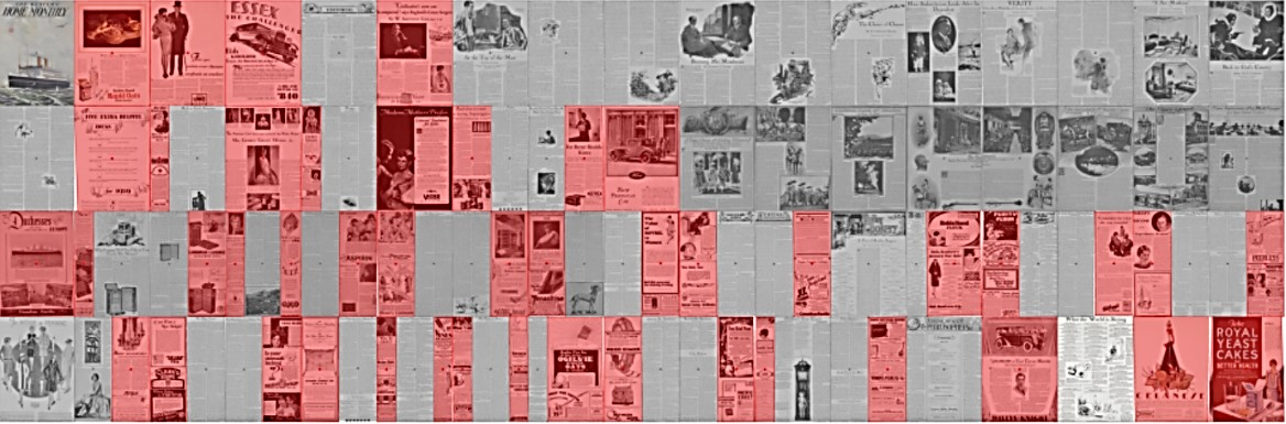 Fig. 11. Texture Map for advertising in Western Home Monthly, January 1929.