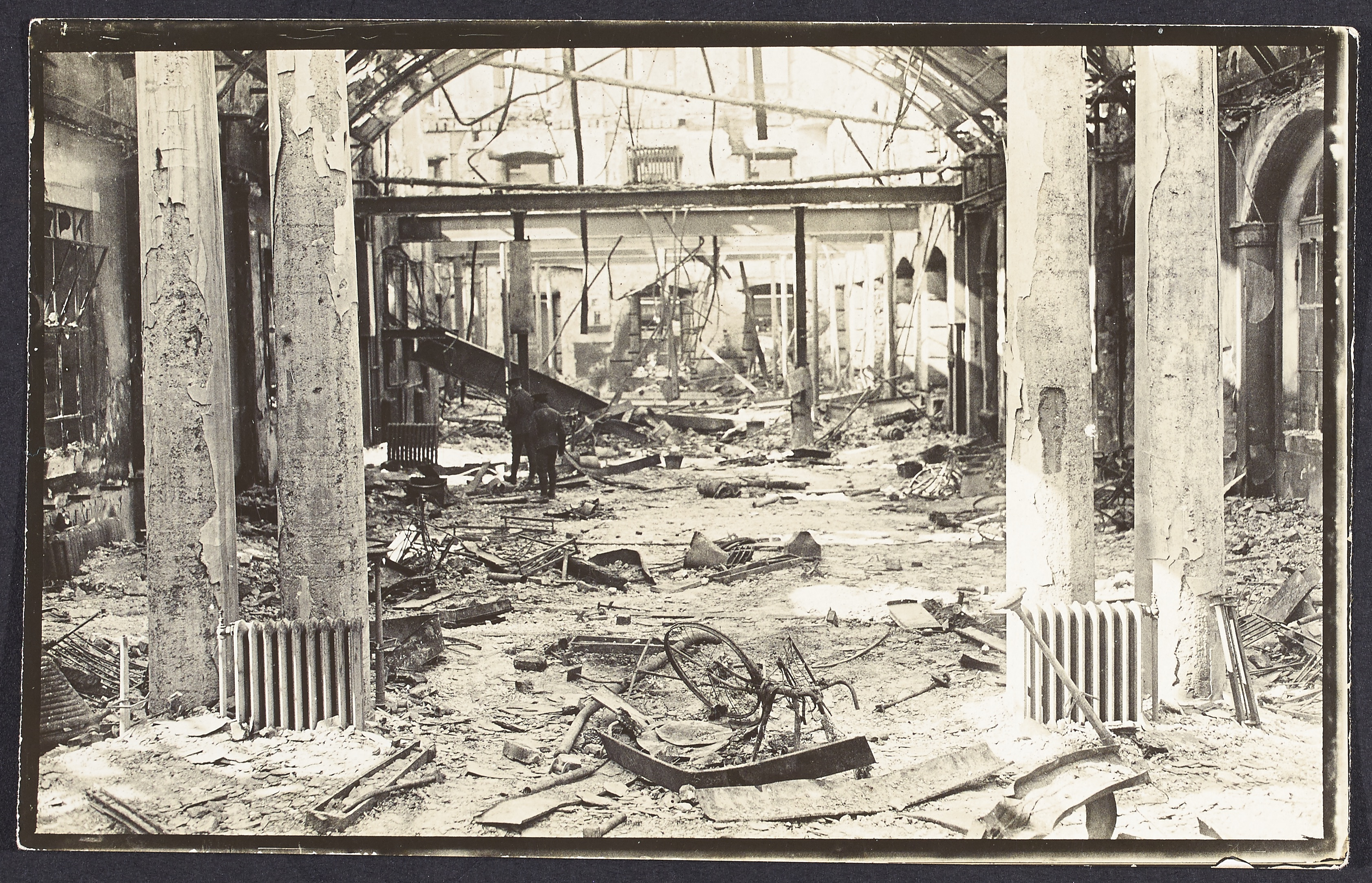 Ruins of the interior of the General Post Office following the 1916 Rising.