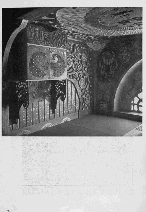 The room designed by artist Aleksandr Golovin in the style of an old Russian terem