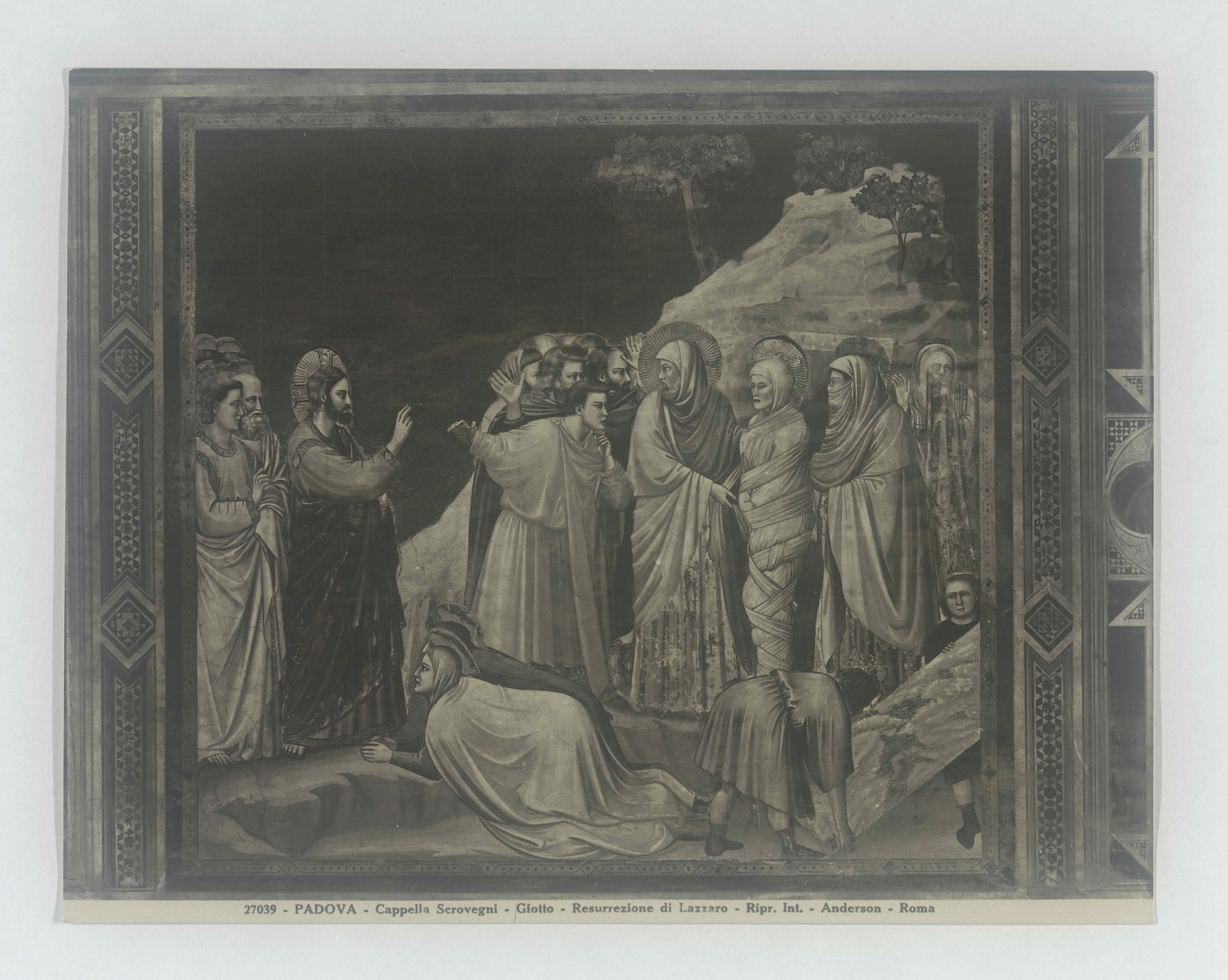 Photograph of The Resurrection of Lazarus by Fra Angelico, taken by Anita Malfatti