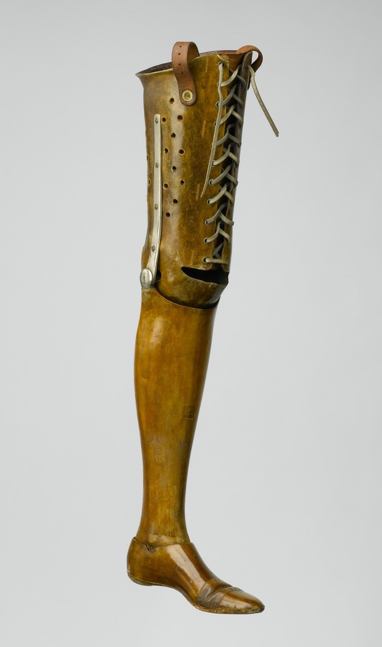 Artificial left leg, London, England, 1861-1920.