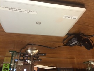 The laptop that holds the digital files from the Sontag collection held at UCLA
