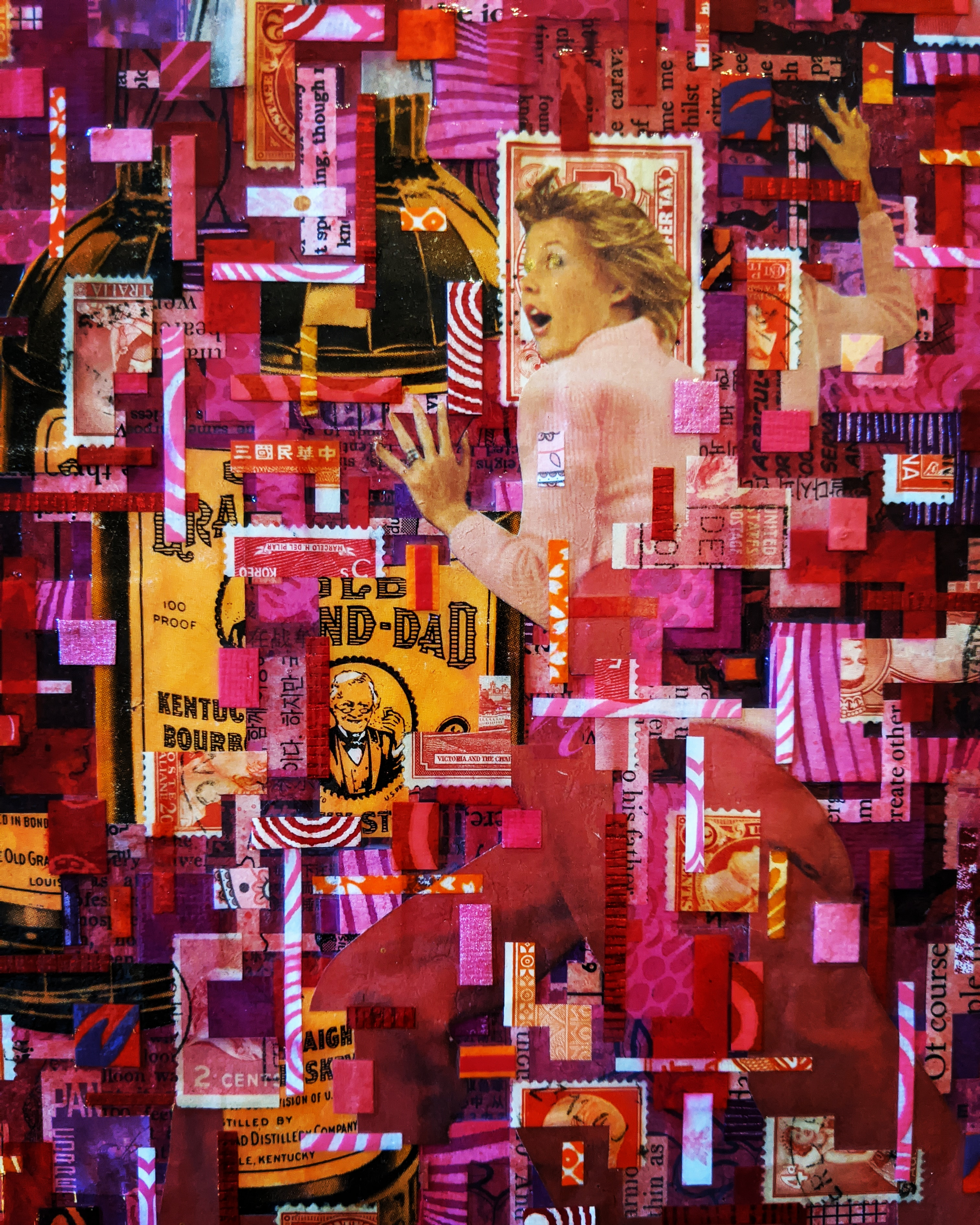 Phillip Lightweis-Goff, collage entitled Her struggle's real, though sometimes she isn't (2020).