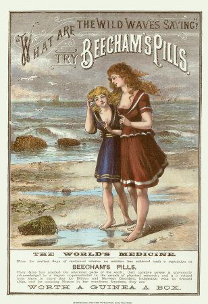 What are the Wild Waves Saying? Advertisement for Beecham's Pills (1887)