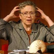 American anthropologist Mary Catherine Bateson (1939-) at a conference in 2004