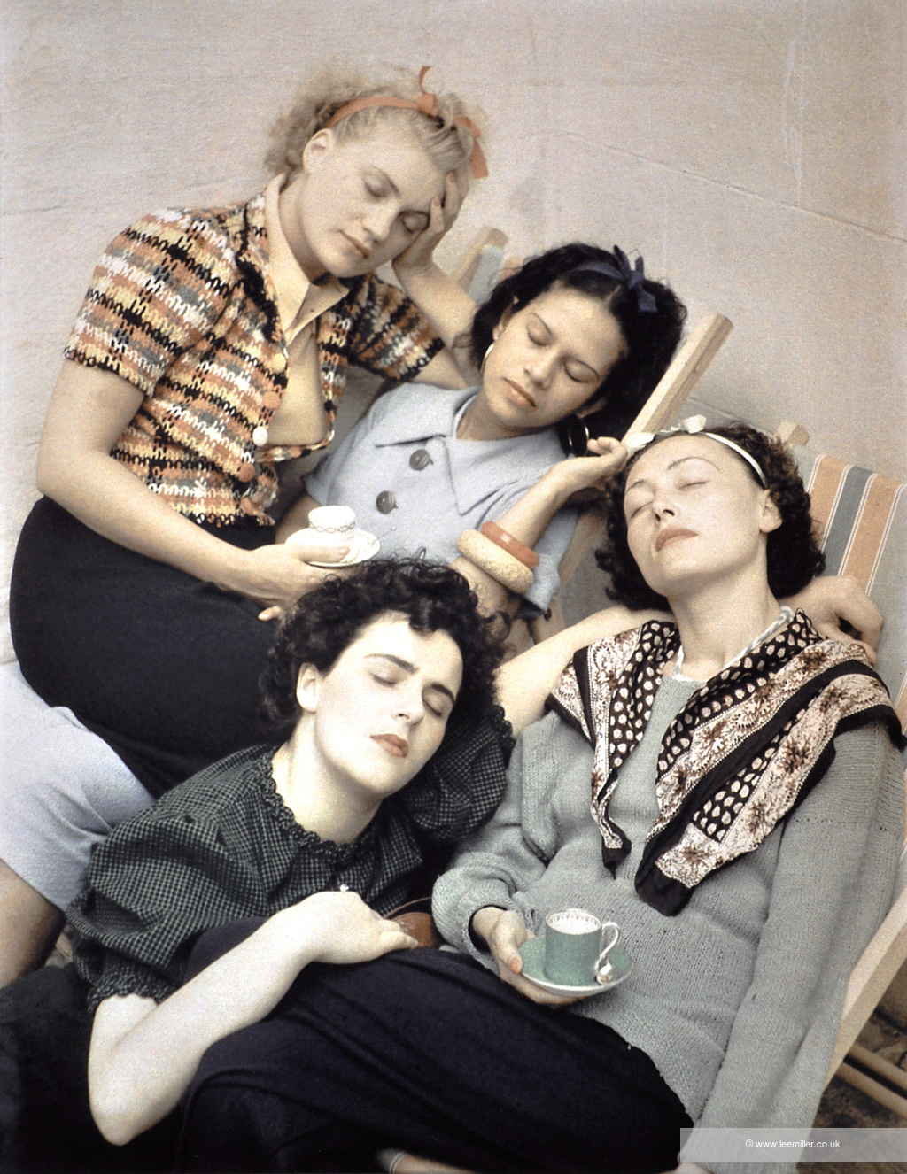 Roland Penrose, Four Women Asleep (Lee Miller, Adrienne Fidelin, Nusch Eluard, and Leonora Carrington, 1937).