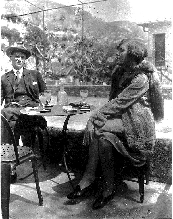 Mary Butts and Douglas Goldring sharing a drink on the Continent, 1920s. Photographs of Mary Butts © 1998 by The Estate of Mary Butts; published by permission.