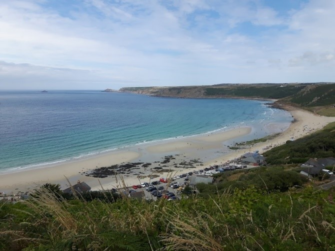Sennen Cove and surrounding landscape. Photograph by the author.