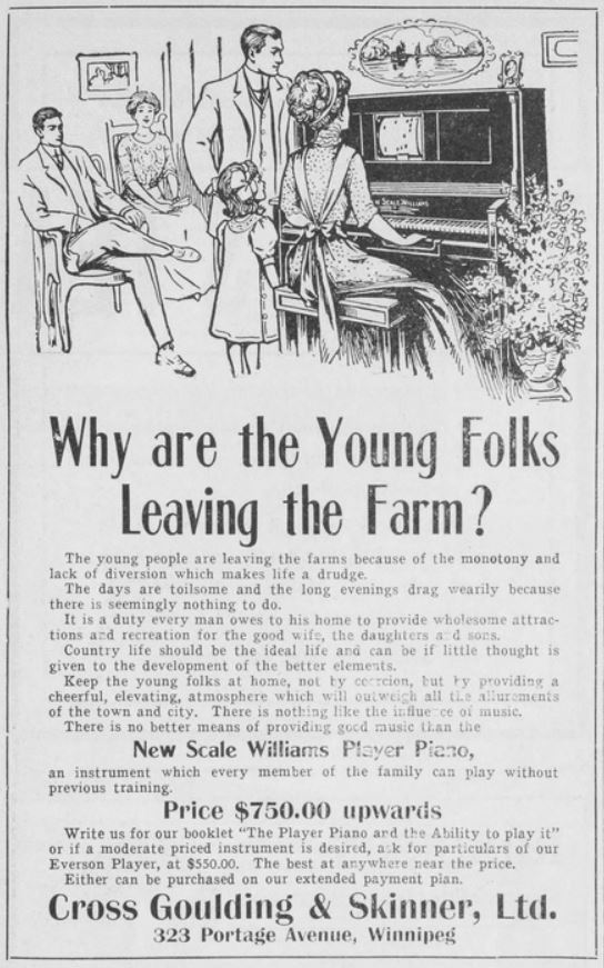 Cross Goulding & Skinner Advertisement, Western Home Monthly, November 1911, 58.