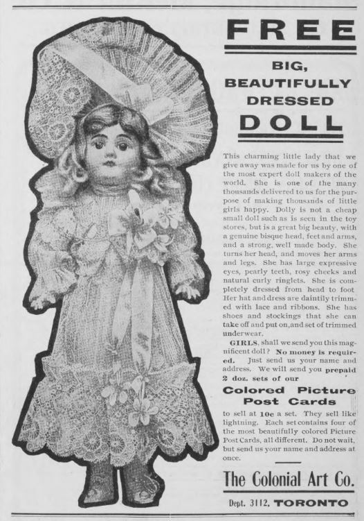 The Colonial Art Co. Advertisement, Western Home Monthly November 1905, 19.
