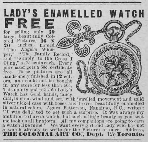 The Colonial Art Co. Advertisement, Western Home Monthly, November 1903, 24.