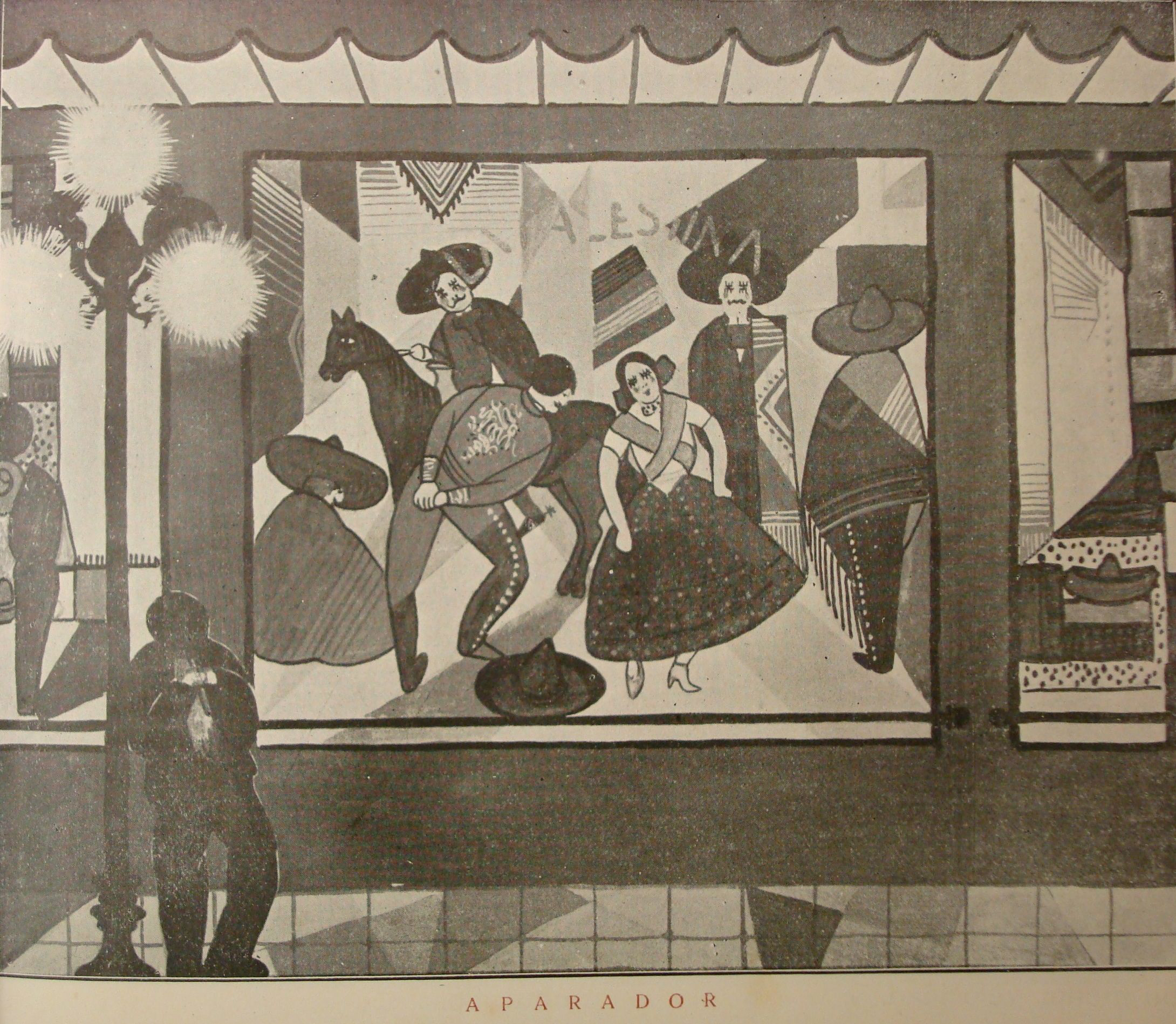 "Carlos González's illustration of the scene ""Aparador"" (Store Window)."