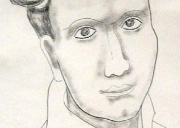 Dylan Thomas. Drawing by Jessica Dismorr. 1935.