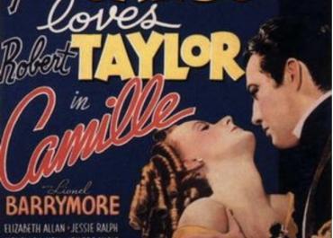 Poster for Camille (MGM, 1936), directed by George Cukor. Wikimedia Commons.