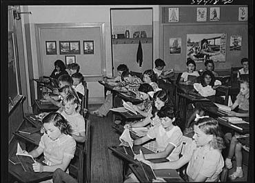 1940s Classroom. Photograph by Russell Lee. Image courtesy Wikimedia Commons.