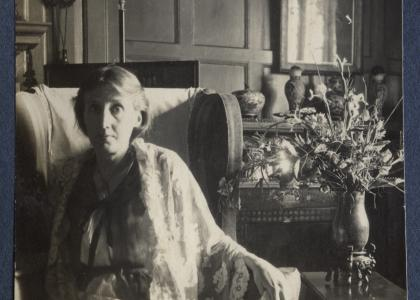 Virginia Woolf, photograph by Ottoline Morrell