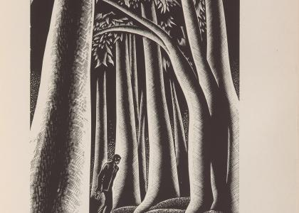 Lynd Ward, wood engraving from Wild Pilgrimage (1932) depicting the protagonist