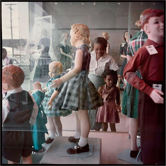 Ondria Tanner and Her Grandmother Window-Shopping, 1956